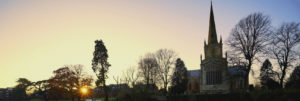 Oxfordshire, Oxfordshire Cathedral, Sunset
