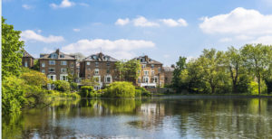 Prime estate, river, mirror image